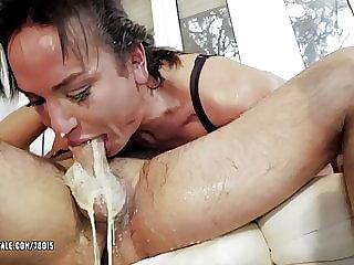 Hd Reife Blowjob Sperma Mund Gold HD
