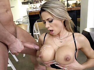 Tits cumshot on Cum On